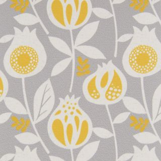 Harriet Yellow Mist fabric swatch from the 2019 Vertical blinds launch