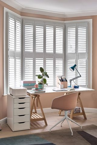 Richmond White Shutters in living room
