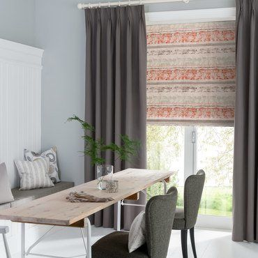 Roman Blind_Fjord Coral_Roomset