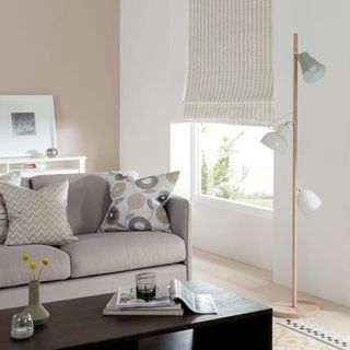 Roman Blind_Lotta Dove Grey_Roomset
