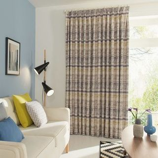 Fjord Mineral Curtains in Living Room