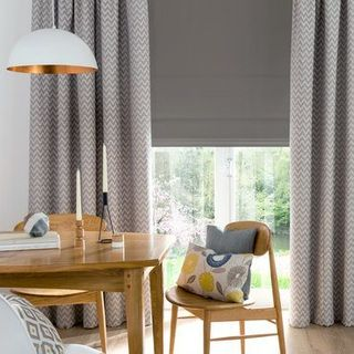 Roman Blind_Tetbury Charcoal_Roomset