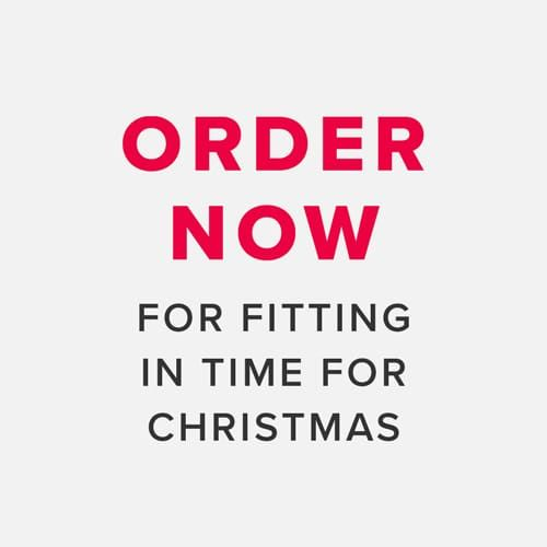 order now for fitting in time for christmas
