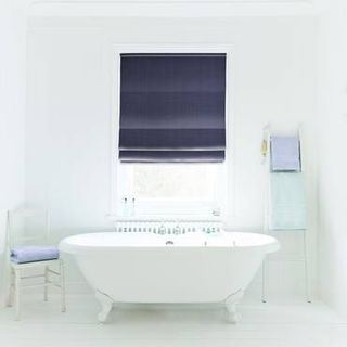 Roman Blind_Clarence Denim_Roomset