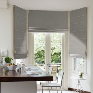 Roman Blind_Harlow Charcoal_Roomset