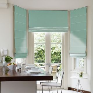 Roman Blind_Harlow Turquoise_Roomset
