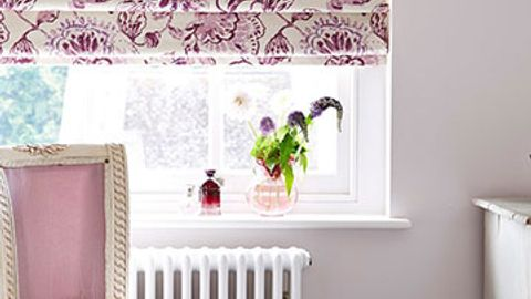 Roman Blind_Portia Quartz_Bedroom
