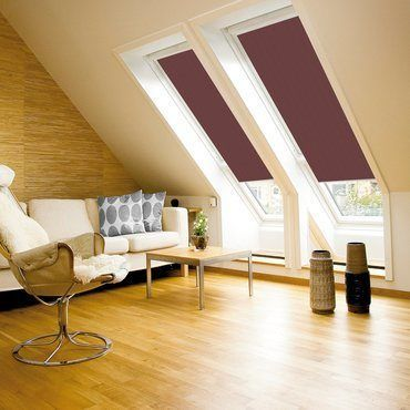 Velux Blind_4060 Dark Brown_Roomset