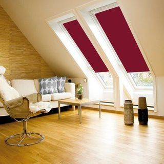 Velux Blind_4560 Dark Red_Roomset