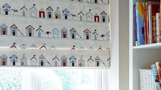 Roman Blind_Beach Huts Blue_Kids Bedroom
