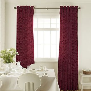 Roche Port Curtains in dining room with white furniture