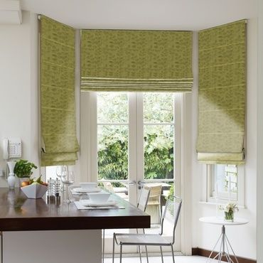 Roman Blind_Roche Olive_Roomset