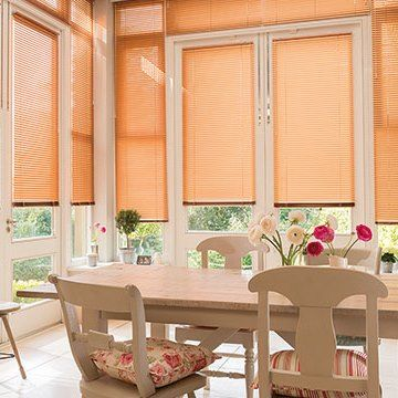 Venetian Blind_Soft Orange_Conservatory