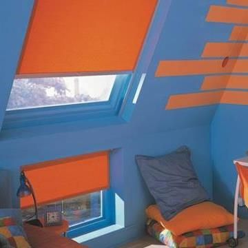 Velux Blind_4564 Orange_Childrens Bedroom