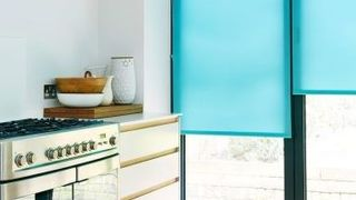 Aqua Blue Kitchen Roller Blind_Ravenna Aqua