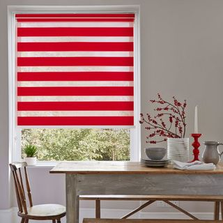 Roller Blind_Cascade Red_Roomset