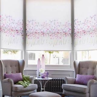 Roller Blind_Freeda Violet_Roomset