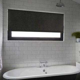 Roller Blind_Iowa Black_Roomset