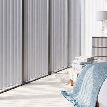 Vertical Blind_Cordova Grey_Bedroom