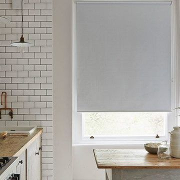 blue kitchen roller blind_Iowa