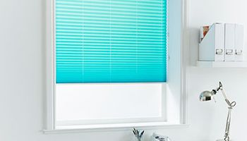 Pleated Blind_Bali Aqua_Roomset