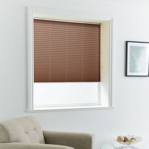 Pleated Blind_Malbec Brown_Roomset