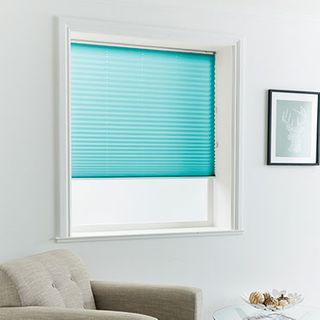 Pleated Blind_Midas Turquoise_Roomset