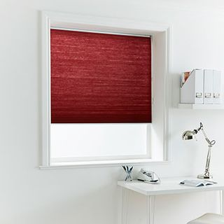 Pleated Blind_Thermashade Chili_Roomset