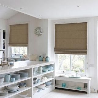 Roman Blind_Roche Taupe_Roomset