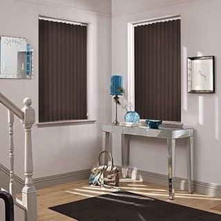 Vertical Blind_Cordova Chocolate_Roomset