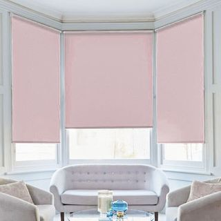 Roller Blind_Cordova Baby Pink_Roomset