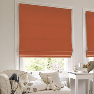 Roman Blind_Tetbury Orange_Roomset