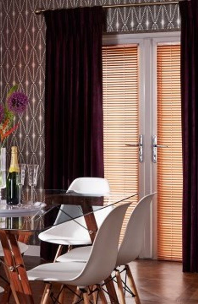 Purple Curtain - Dining Room - Lyon Plum