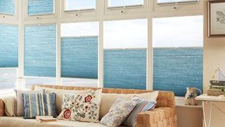 Crush Sky Pleated Conservatory Blind