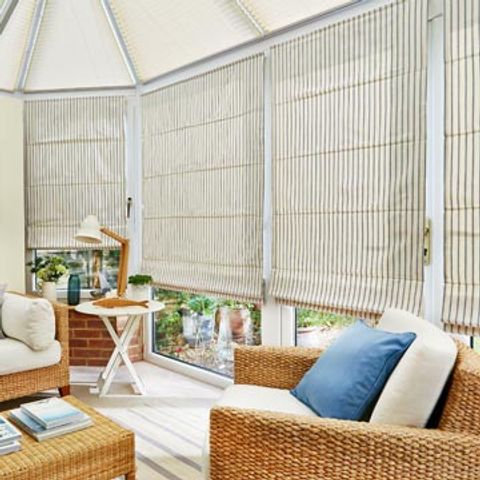 Roman Blind_Downtown Blue_Conservatory