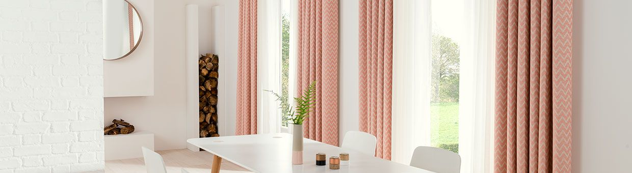 pink curtain-dining room-horizon salmon.jpg