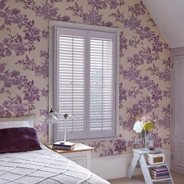 Full Height Lilac Custom Colour Shutters
