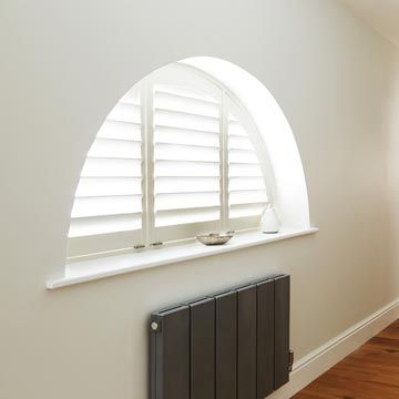 Shaped Warwick style Shutters in White