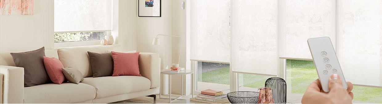 Electric blinds hillarys white roller living room kinsey white hillarys blinds solutioingenieria Images