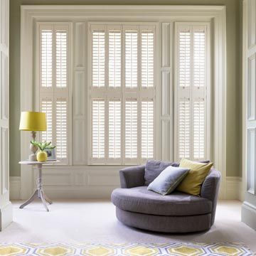 Tier-on-Tier  Windsor Shutters in Bisque