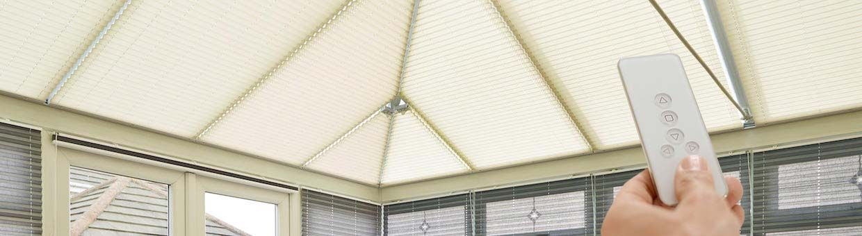 motorised-roof-blinds-conservatory-cream-pleated