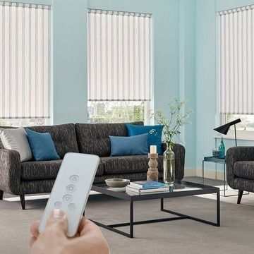 Blue-roller-blind-Lounge-Candra-Teal-motorised-blind