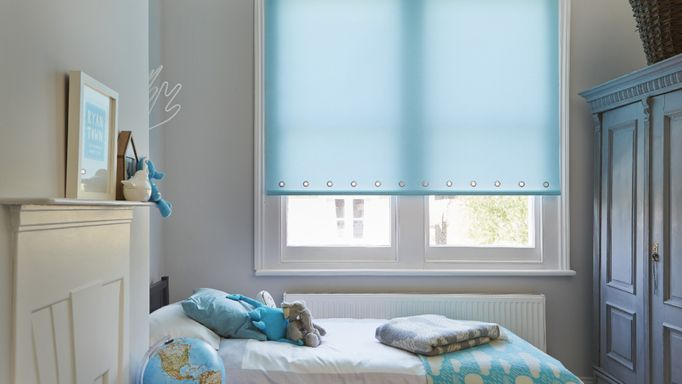 Ravenna Aqua Roller blind bedroom