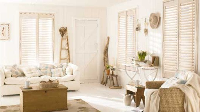 Coastal shutters living room