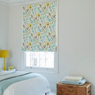 Origins Citrine Roman blind bedroom