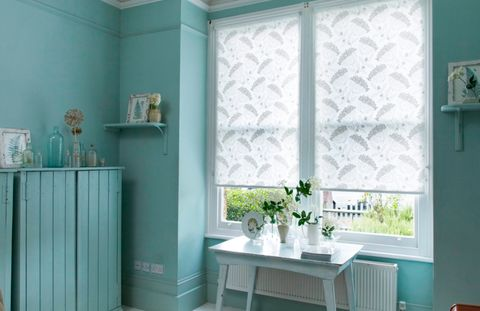 Elsham Ice White Roller blind