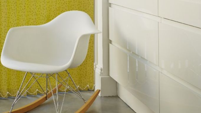 Izola Chartreuse Yellow Vertical Blind