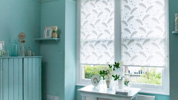 Elsham Ice White Roller blinds