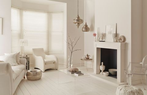 Purity White Wooden blind