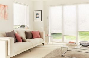 Kinsey White Motorised Roller blind
